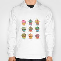 cupcakes Hoodies featuring Cupcakes by Jean Balogh