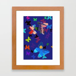 Colorflies Framed Art Print