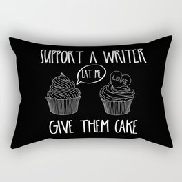 Support A Writer With Cake Rectangular Pillow