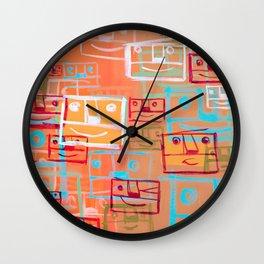 Many Faces Wall Clock