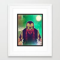 butcher billy Framed Art Prints featuring butcher by The Ceremonial Dagger