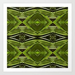 Dew Drop Jewels on Summer Green Grass Art Print
