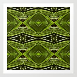 Dew Drop Jewels on Summer Green Grass Art Print