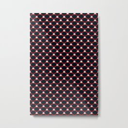 vampire repeat pattern Metal Print