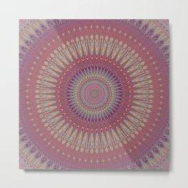 Psychedelic Star Mandala Metal Print