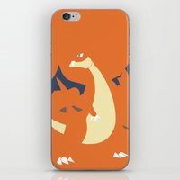 charizard iPhone & iPod Skins featuring Mega Charizard Y PKMN by Rebekhaart