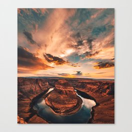 horse shoe bend canyon Canvas Print
