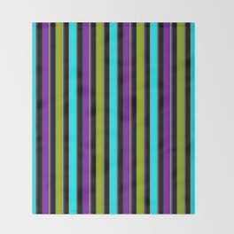 VERTICAL Retro Candy Stripe Throw Blanket