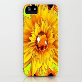 Golden Topaz Sunflower Gem Design iPhone Case