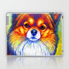 Colorful Long Haired Chihuahua Dog Laptop & iPad Skin