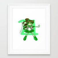 sailor jupiter Framed Art Prints featuring Sailor Jupiter by Glopesfirestar
