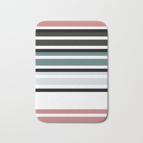 Simple colorful striped pattern . 3 Bath Mat