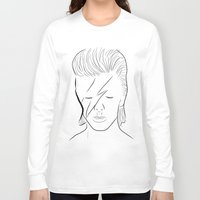 bowie Long Sleeve T-shirts featuring Bowie by Luster