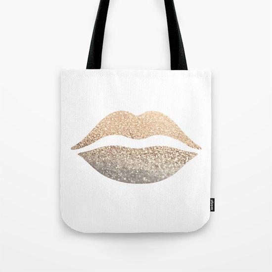 GOLD LIPS Tote Bag