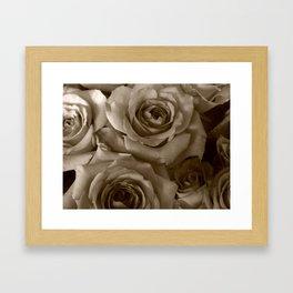 Ghost Roses Framed Art Print