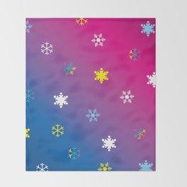 Snowflakes_D Throw Blanket
