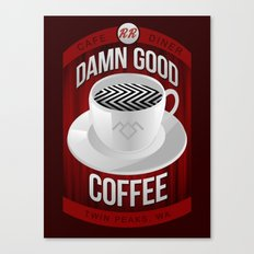 Damn Good Coffee Canvas Print