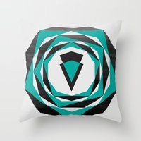 arya Throw Pillows featuring Decahedron Hexagon combined! by Hinal Arya