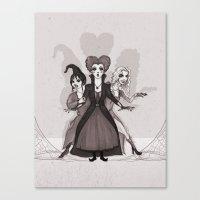 hocus pocus Canvas Prints featuring Hocus Pocus by Sam Pea