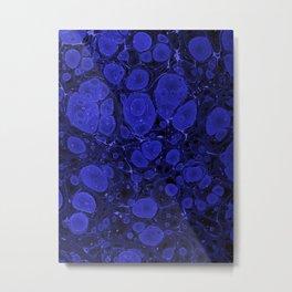Tova - abstract art for home decor dorm college office minimal navy indigo blue Metal Print