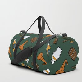 Whisky Pattern in Dark Green Duffle Bag