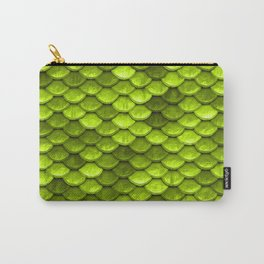 Beautiful Key Lime green mermaid fish Scales Carry-All Pouch