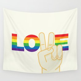 Peace and Love Wall Tapestry