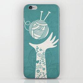Yarn Love - Teal  iPhone Skin