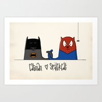 Catman ♥ Spidercat Art Print