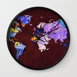 World Map 22 Wall Clock