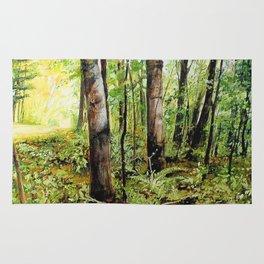 Forest Woods Vermont Landscape Rug