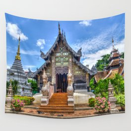 Chiang Mai Thailand Buddhist Temple Wall Tapestry