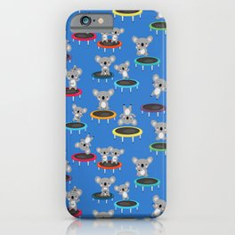 Koala Gymnasts On Trampolines Pattern iPhone Case