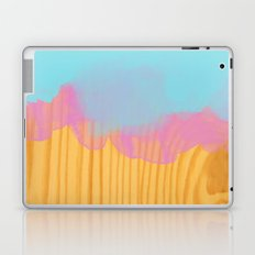 wood watercolor mix with blue and pink Laptop & iPad Skin