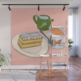 Aftenoon Cake Treat Wall Mural