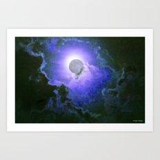 Summer Full Moon Art Print