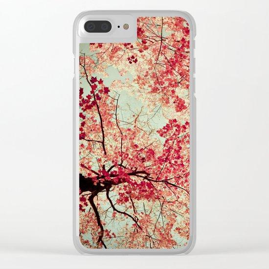 Autumn Inkblot Clear iPhone Case
