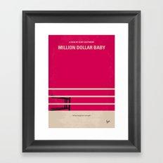 No613 My Million Dollar Baby minimal movie poster Framed Art Print