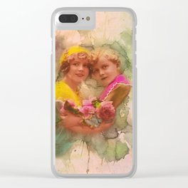 Vintage childhood of the last century Clear iPhone Case