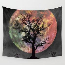 Nature's Cosmically Vigilant Moon Wall Tapestry