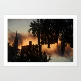 Up on the Rooftops Art Print