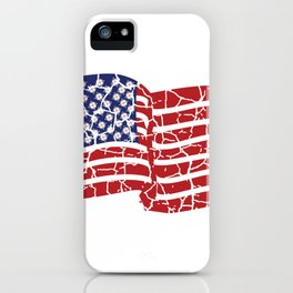 America Flag USA Holiday Arrow Bow Gift iPhone Case