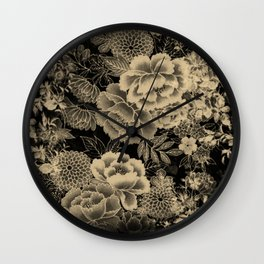 Vintage Floral Abstract Wall Clock