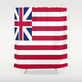Historical flag of the USA : grand union flag Shower Curtain