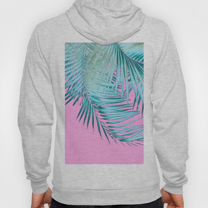 Palm Leaves Pink Blue Vibes #1 #tropical #decor #art #society6 Hoody
