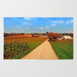 Hiking through a peaceful scenery III | landscape photography Rug