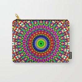 Vibrant Flower Garden Mandala Carry-All Pouch