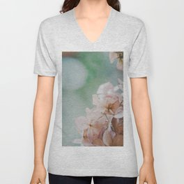 Pastel Hydrangea Unisex V-Neck