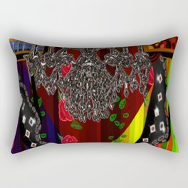 Black Boots in air by chandelier Rectangular Pillow