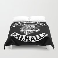 vikings Duvet Covers featuring Sons of Odin Vikings Inspired by vie3